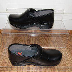 DANSKO XP Black Leather Clogs Shoes 37 (US 6.5-7)